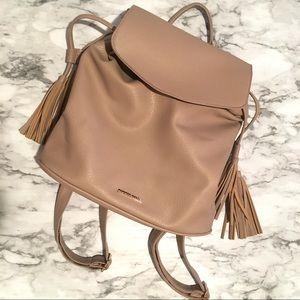 Nude/Beige Rampage tassel backpack